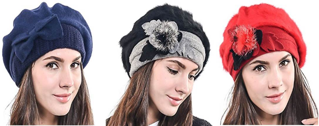 88c24a8e8c7 Lady French Beret Wool Beret Chic Beanie Winter Hat Jf-br034 - ipasm.com -  ipasm.com